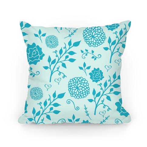 Blue Whimsical Floral Pattern