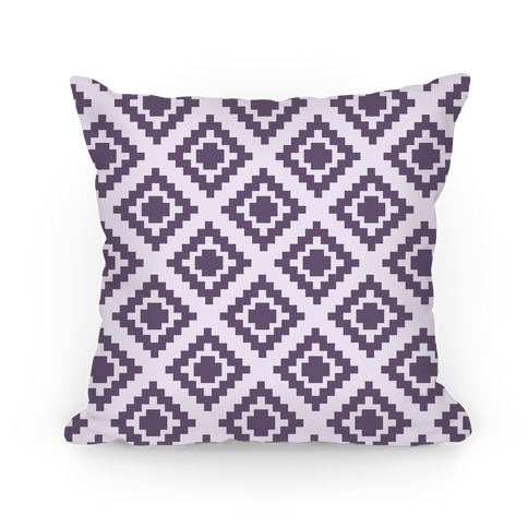 Purple Tribal Diamond Pattern