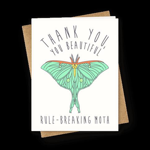 Thank You, You Beautiful Rule-Breaking Moth