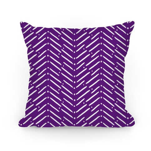 Purple Tribal Doodle Pattern