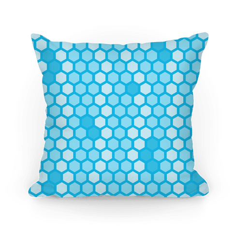 Blue Geometric Honeycomb Pattern