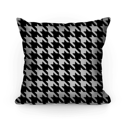 Houndstooth Pillow (black and white)