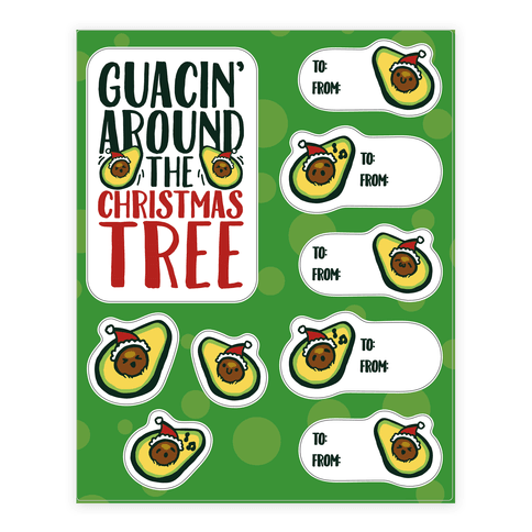 Guacin' Around The Christmas Tree Gift Tag