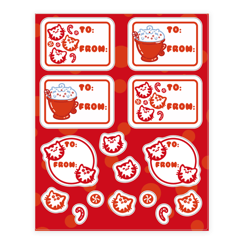 Purr Purr Mint Gift Tag