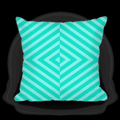 Teal Diagonal Stripe Pattern