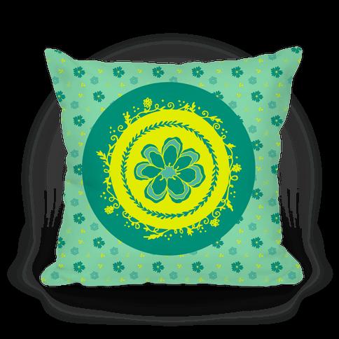 Springtime Floral Mandala (Green)