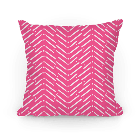 Pink Tribal Doodle Pattern