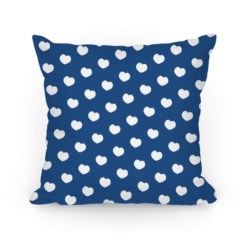 Blue Polka Dot Hearts