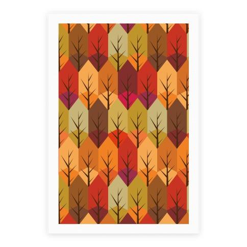 Geometric Fall Leaf Pattern