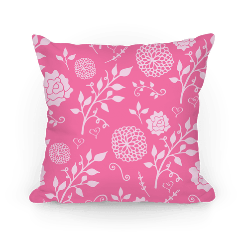 Pink Whimsical Floral Pattern