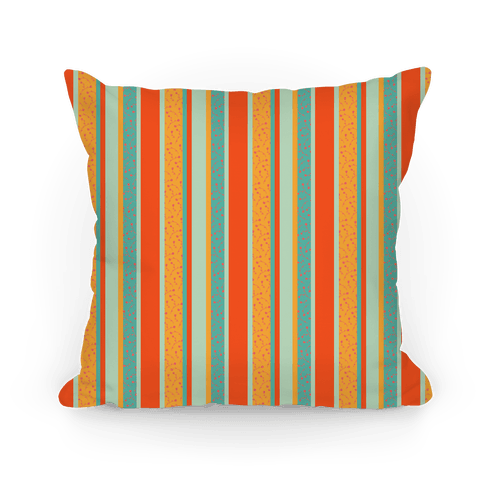 Spring Floral Stripes (Orange and Green)