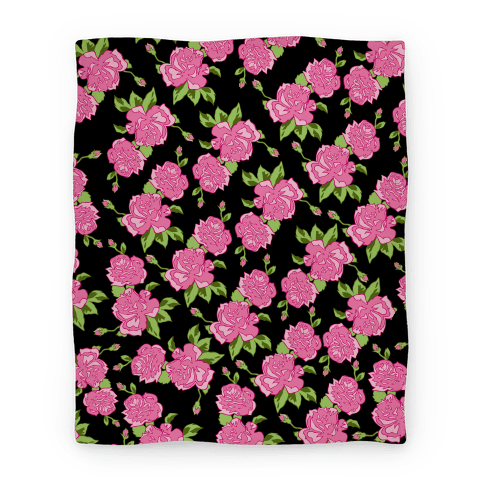 Black and Pink Floral Pattern