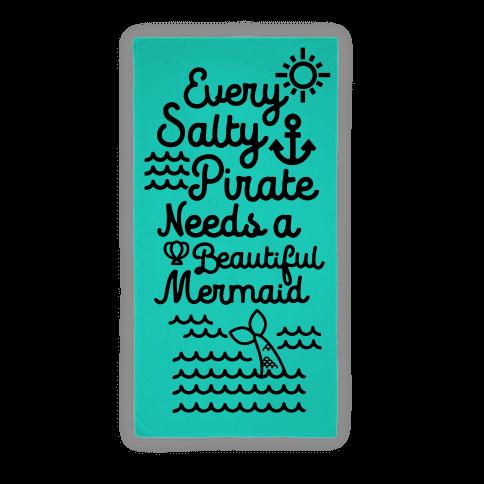 Every Salty Pirate Needs A Beautiful Mermaid Towel