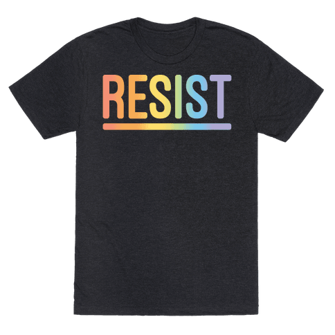 Rainbow Resist White Print