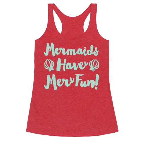 Mermaids Have Mer Fun White Print