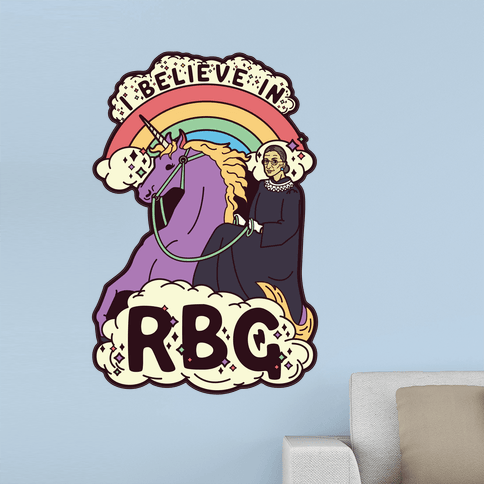 Ruth Bader Ginsburg on a Unicorn