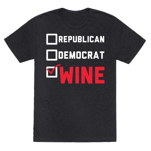 Republican Democrat Wine wht