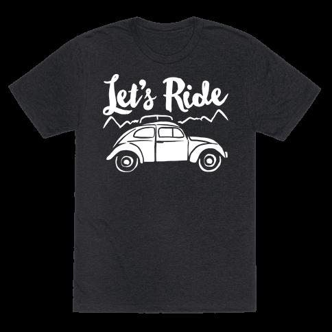Let's Ride White Print