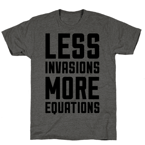 Less Invasions More Equations
