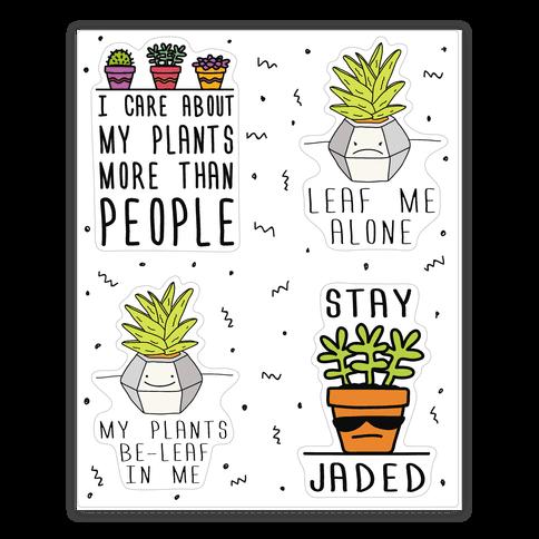 Plant Pun Doodle Sticker Sheet