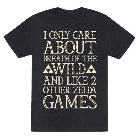 I Only Care About Breath of The Wild White Print