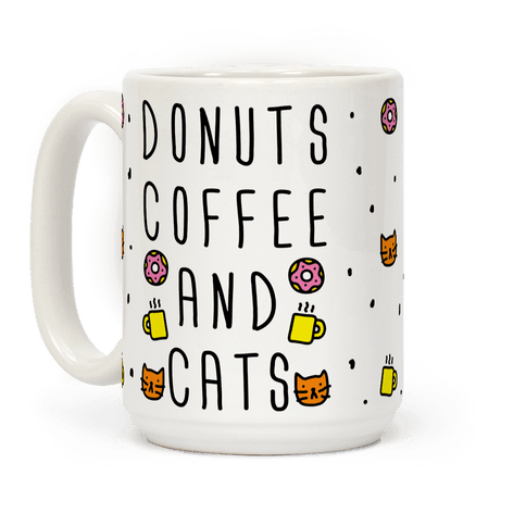 Donuts Coffee And Cats