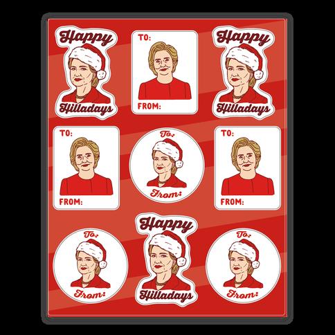Happy Hilladays Sticker Sheet
