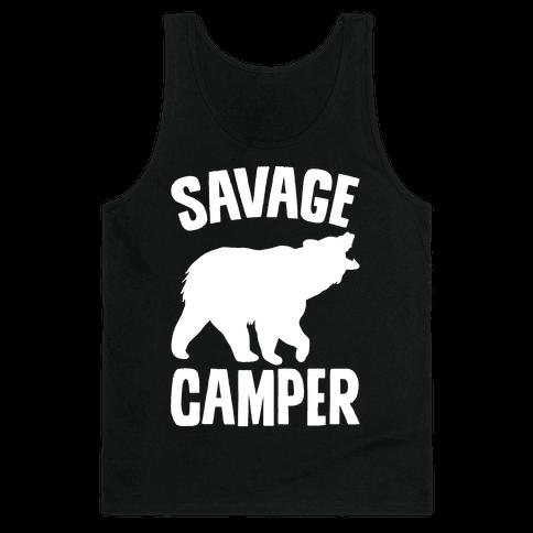 Savage Camper White Print