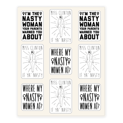 Miss Clinton If Ya' Nasty Sticker Sheet