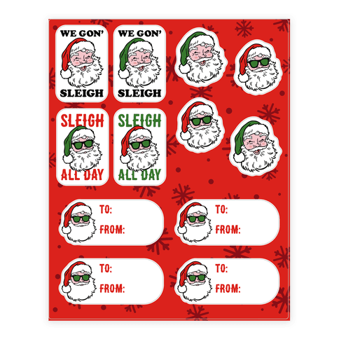 Sleighing Santa Gift Tags