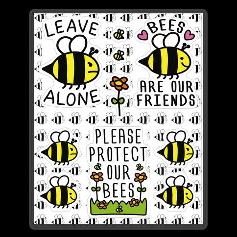 Leave Bee Alone Sticker Sheet