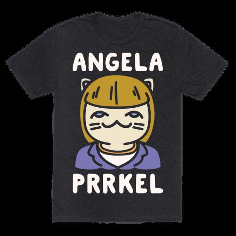 Angela Prrkel Parody White Print