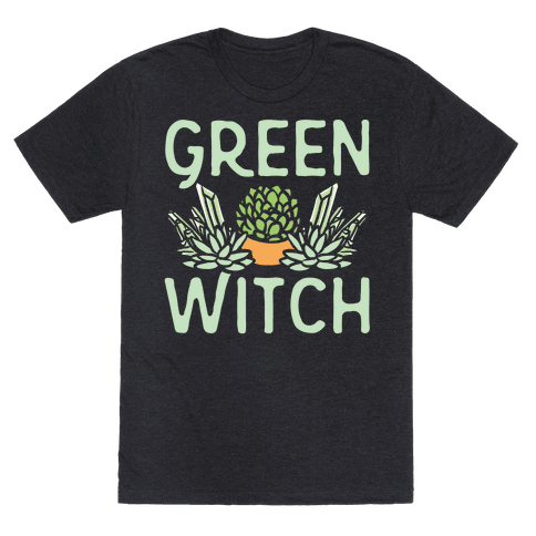 Green Witch White Print