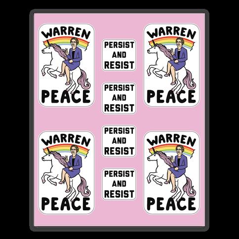Magical Elizabeth Warren Sticker Sheet