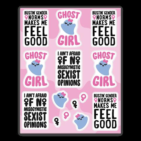Ghost Girl Sticker Sheet