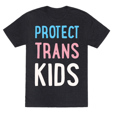 Protect Trans Kids White Print