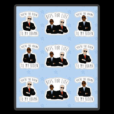 Obama and Biden Bffs Sticker Sheet