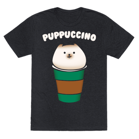 Puppuccino Parody White Print