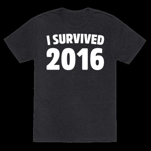 I Survived 2016 White Print