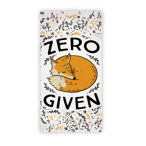 Zero Fox Given Beach Towel