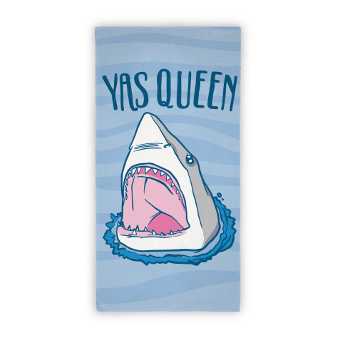 Yas Queen Shark Beach Towel