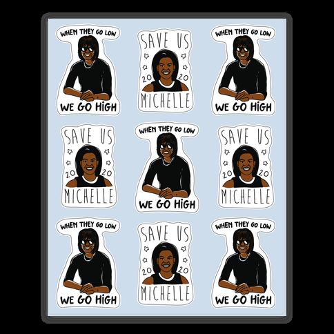 Michelle Obama Sticker Sheet