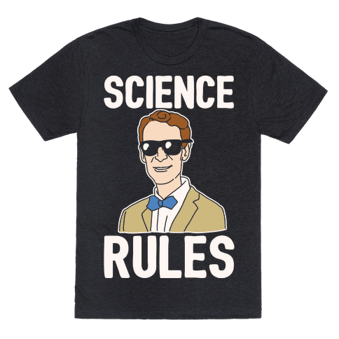 Science Rules White Print