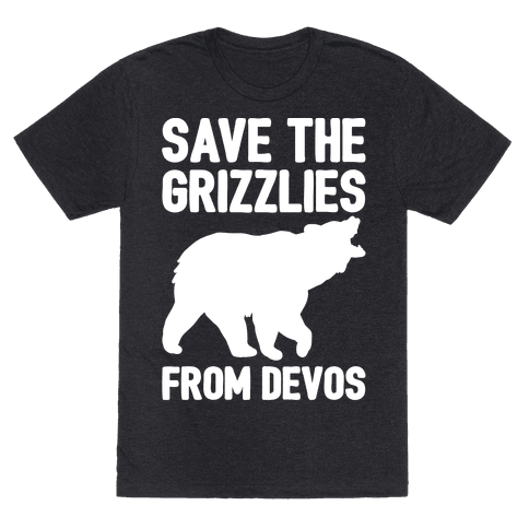 Save The Grizzlies from DeVos White Print