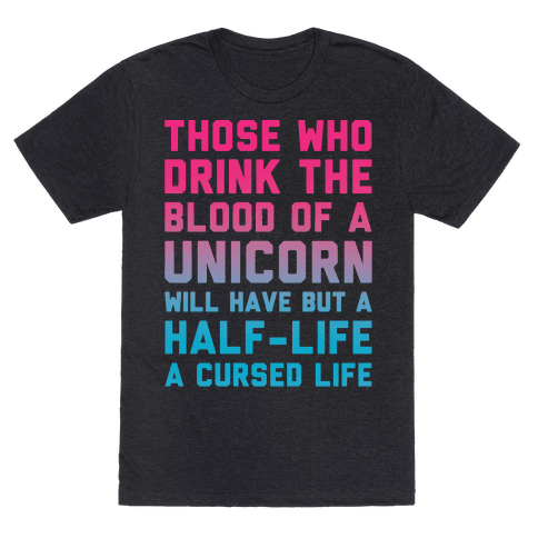 Those Who Drink The Blood Of A Unicorn White Print