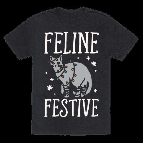 Feline Festive White Print