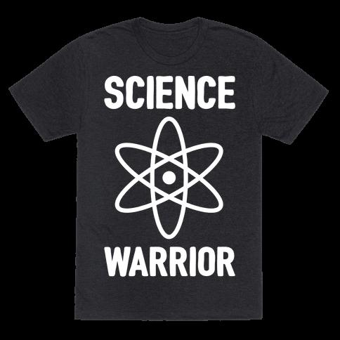 Science Warrior White Print