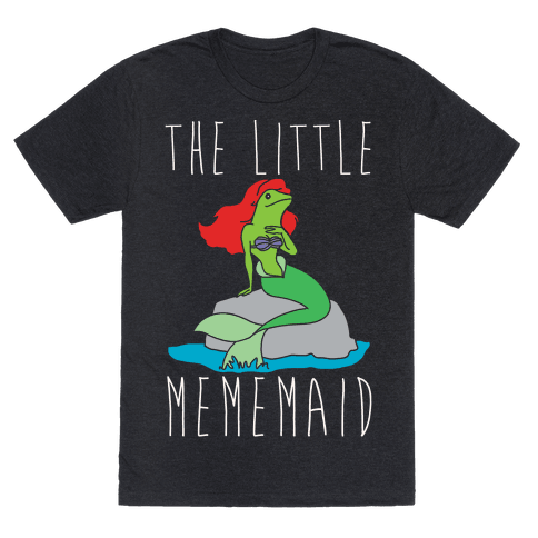 The Little Mememaid Parody White Print
