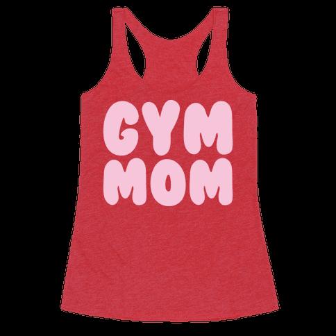 Gym Mom White Print