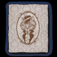 Victorian Portrait of Cat Lady Blanket
